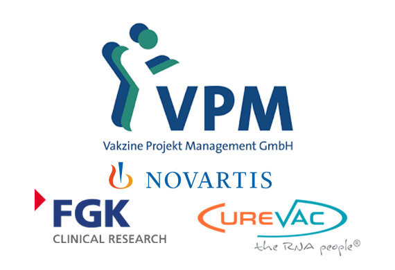 Copyright: Vakzine Projekt Management GmbH, https://www.vpm-consult.com/de/; CureVac AG, https://www.curevac.com/; FKG Clinical Research, https://fgk-cro.de/; Novartis Deutschland, https://www.novartis.de/